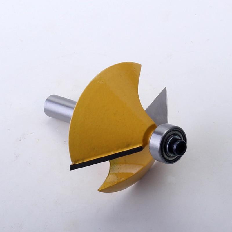 מערכות שמע נייד 8mm Shank באיכות גבוהה 45 גדולים תואר chamfer & נתב חתוכים Bevel Bit עץ חיתוך פיסות הנתב נגרות כלי (4)