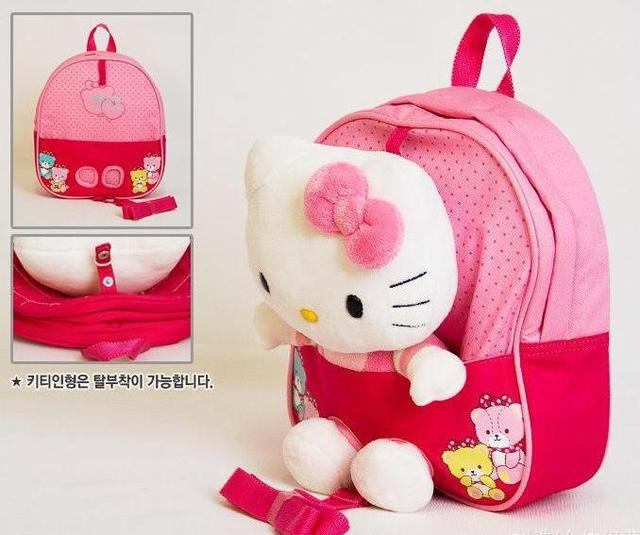 Cute 3D Hello Kitty Toy Baby Bags For Kids Girls .Actical Pink Children  Backpack School Bag 7d83497300110