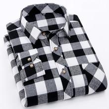 Flannel Plaid Shirt Men 2018 Fashion Dress Men shirt Casual Warm Soft Long Sleeve Shirts camiseta masculina chemise homme