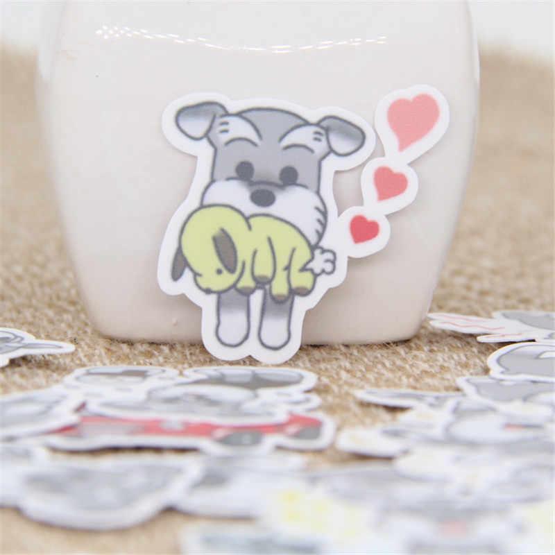 40 pçs/lote bonito cinza filhote de cachorro diariamente adesivo decalque para telefone caso do carro portátil à prova dwaterproof água álbum diário mochila crianças brinquedo adesivos