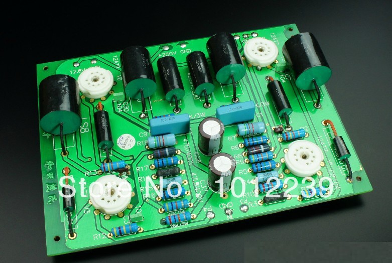 Assembled LS8 tube preamp line finished board Wo Tian Maoshi Line