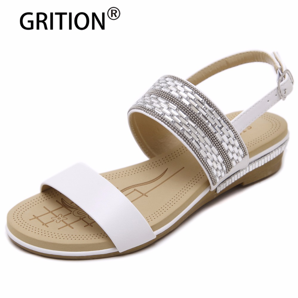 GRITION Fashion Brand New Women Sandals Summer Women Shoes Wedges Sandals Beach Women Sandals Casual Summer Shoes Size 35-40