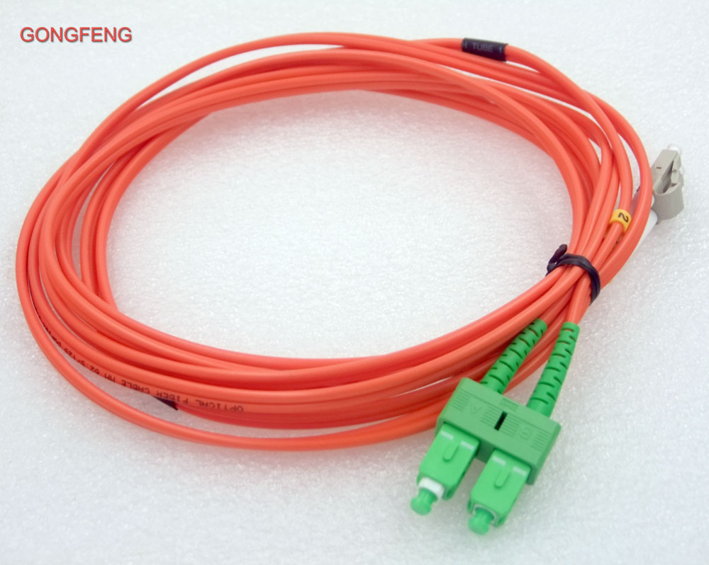 GONGFENG 10PCS NEW 3 m Wire Harness Connector LC/UPC SC/APC Multimode MM  Dual Core 3.0mm Fiber Pigtail Jumper Custom Wholesale -in Connectors from  Lights ...