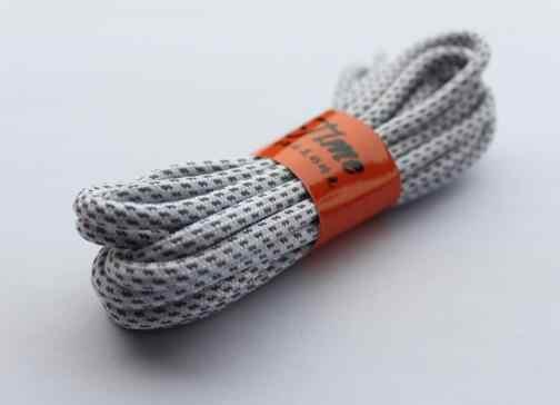Moda 120 cm ve 140 cm Noktalı Pratik Güçlü 3 M Yansıtıcı Tırmanma Koşu Ayakkabı Bağı Yuvarlak Ayakkabı Bağı Bir Çift Ücretsiz kargo