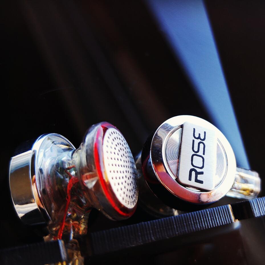 2017 New Rose Mojito-3D Flat Head Earphone Double Dynamic HIFI Monitor Earbud Earphone With TF 2-pin Interface Fone De Ouvido 63 rose de mai