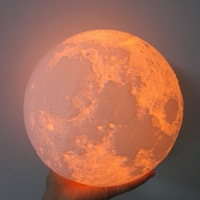 Customized 24cm 3D Magical Moon Night Light Smart Romantic Moonlight Remote Control USB Charge Desk Lamp
