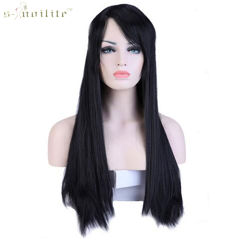 """Buy SNOILITE Women Girl's 28"""" 70cm Synthetic Long Full Head Wigs Kanekalon Heat Resistant Hair Wig 11 Colors for $16.89 in AliExpress store"""