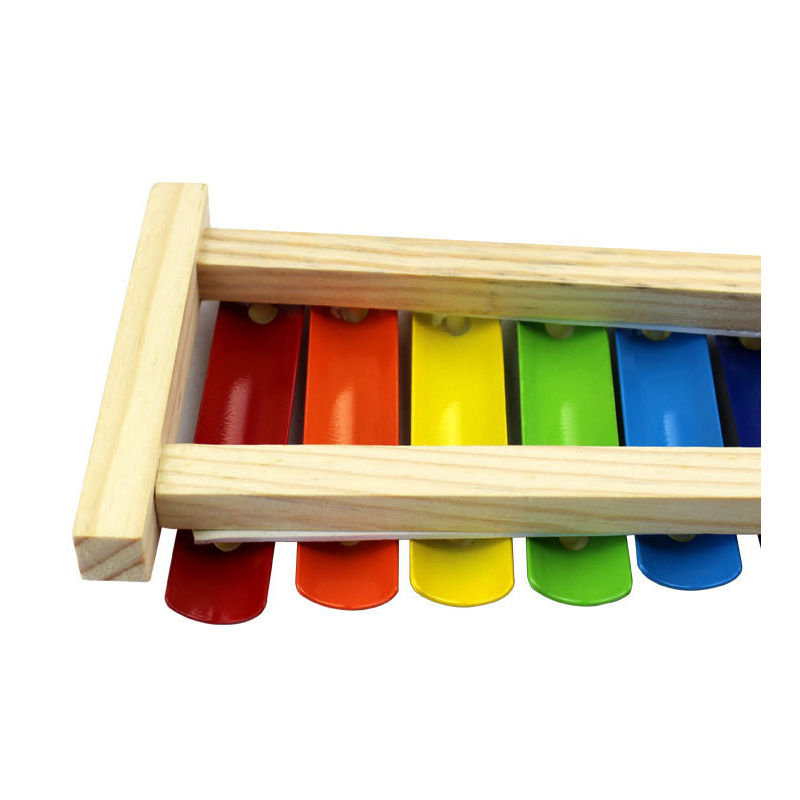 Education Wooden Xylophone Wholesale Learning For Children Kid Musical Toys Xylophone Wisdom Juguetes 8-Note Music Instrument