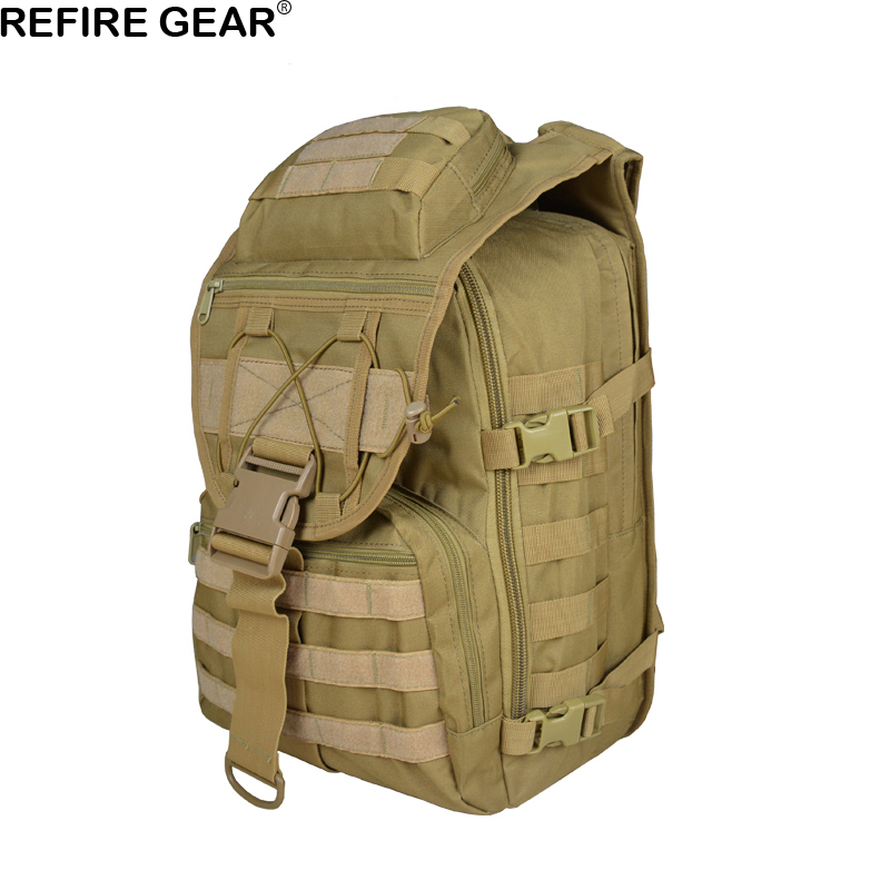 Dynamic Refire Gear Outdoor Backpack Men Camouflage Laptop Bags Waterproof Travel Backpack 40l Hiking Climbing Fishing Knapsack Clear-Cut Texture