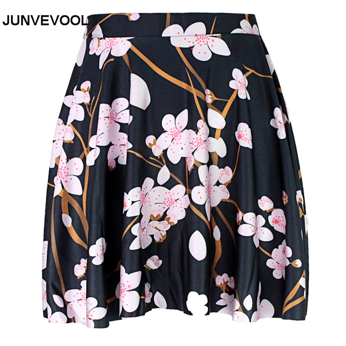 Floral Mini Skirt 3D Women Sexy Summer Beachwear Ladies Digital Printing Fashion Hot Sale Flower Vogue Skirts Pleated Clothing