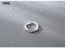 Personality creative 925 sterling silver geometric triangle ring, couple Christmas gifts