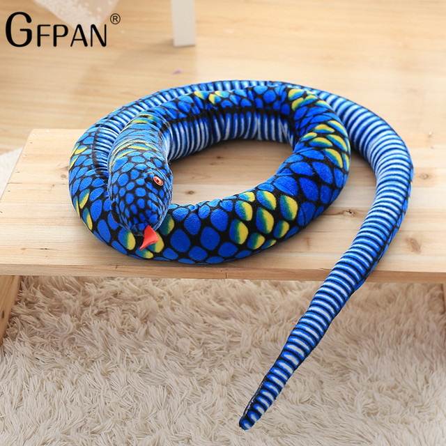 US $17 05 5% OFF|1pc 2 8M Simulation Soft Plush toys Giant Snake animals  python Cloth Toy Stuffed Dolls Bithday Christmas Gifts For baby Kids-in