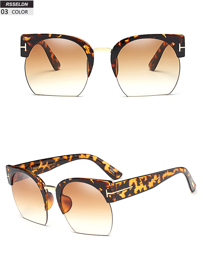 HTB1GKehSpXXXXbPXXXXq6xXFXXXW - RSSELDN Newest Semi-Rimless Sunglasses Women Brand Designer Clear Lens Sun Glasses For Women Fashion Sunglass Vintage oculos