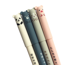 1pcs/lot Cute Piggy Panda Neutral Brush Gel Pen Ink Promotional Gift School  Office Supply