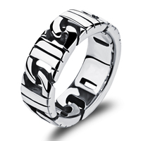 The New Fashion Wholesale 2016 Stainless Steel Ring Sports Boy Fashion Ring Punk Band Domineering Birthday