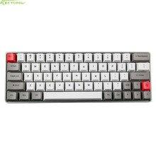 Cáscara del metal GK64 Mini Teclado Mecánico PBT teclado Mecánico Con Sublimación Personalizado Luces Clave Directiion RGB Gruesa tapa de Tecla