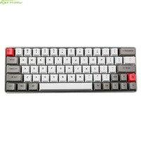 Metall Shell GK64 Mini Mechanische Tastatur Kundenspezifische Lichter Directiion Schlüssel RGB Mechanische tastatur Mit Sublimation PBT Starke Keycap