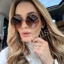 Luxury Brand Round Sunglasses Women Vintage Gradient Glasses