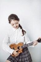 Enya M6 Ukulele Mini Guitar Solid 3A Mahogany 4 Strings Hawaii Guitar With Bag Strap Capo Tuner