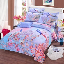 100%cotton bedding sets 4pcs or 3pcs for king queen twin size Britain American flag, the grid, love shape bedclothes bed linens