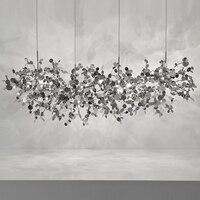 Terzani argent ОСВЕЩЕНИЕ ручной работы нержавеющая сталь листьев люстра лампа для гостиная/спальня дома deor