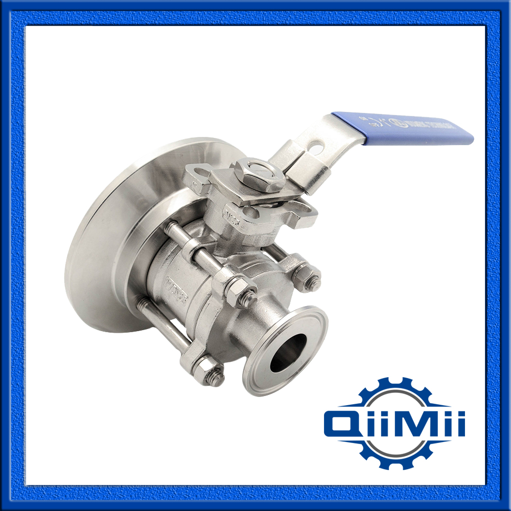 Sanitary Stainless Steel SS304 DN32 Tank Bottom 3 Pieces Ball Valve 1 dn20 sanitary stainless steel ball valve 3 way 316 quick installed food grade manual clamp ball valve handle t port valve