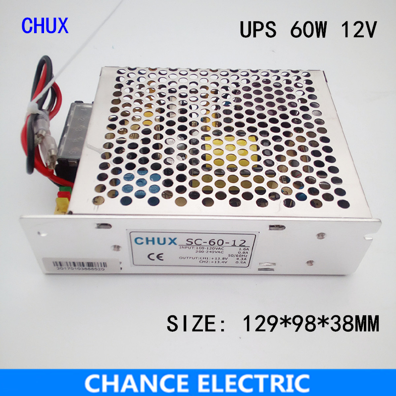 60W 12V 5a universal AC UPS/Charge function monitor switching power supply 60w 12v 5a(SC60W-12)