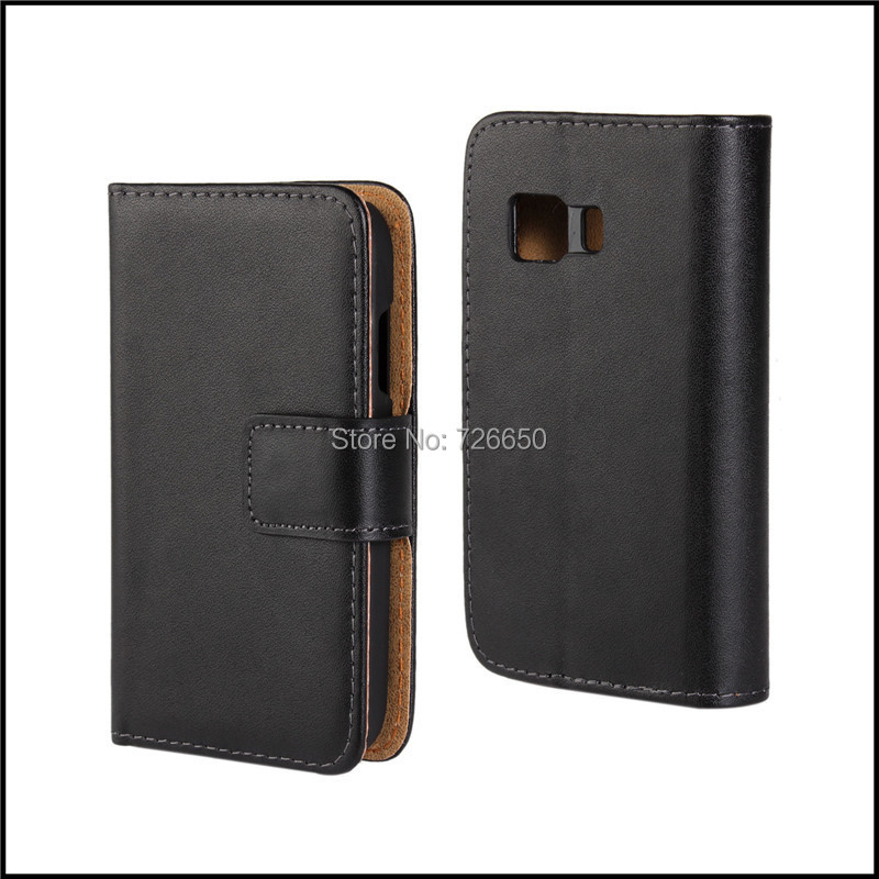 Genuine Leather Case Wallet Style For <font><b>Samsung</b></font> Galaxy Young 2 <font><b>g310</b></font> Cell Phone Bag + Free Screen Protector image