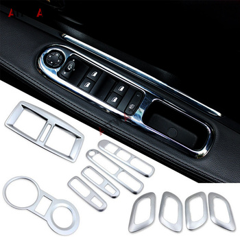 ABS Matte Inner Door Sequins Window Lift Handle Bowl Air Condition Vent Cover Cup Car Accessories For Peugeot 3008 2012-2016