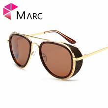 MARC New arrive Luxury Steampunk Style Sunglasses Brand Men Punk Side Shield Retro Sun Glasses Goggles UV400 Eyeglasses