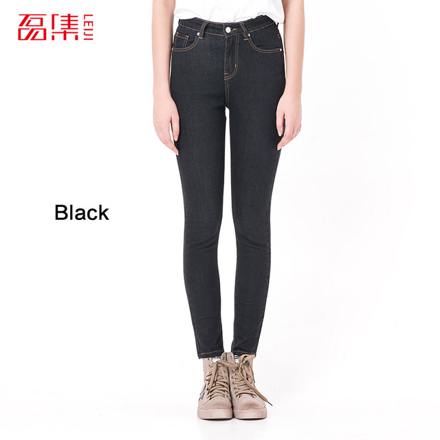 Jeans For Women Jeans With High Waist Jeans Woman High Elastic Plus Size Women Jeans  Femme Washed Casual Skinny Pencil  Pants by Leijijeans