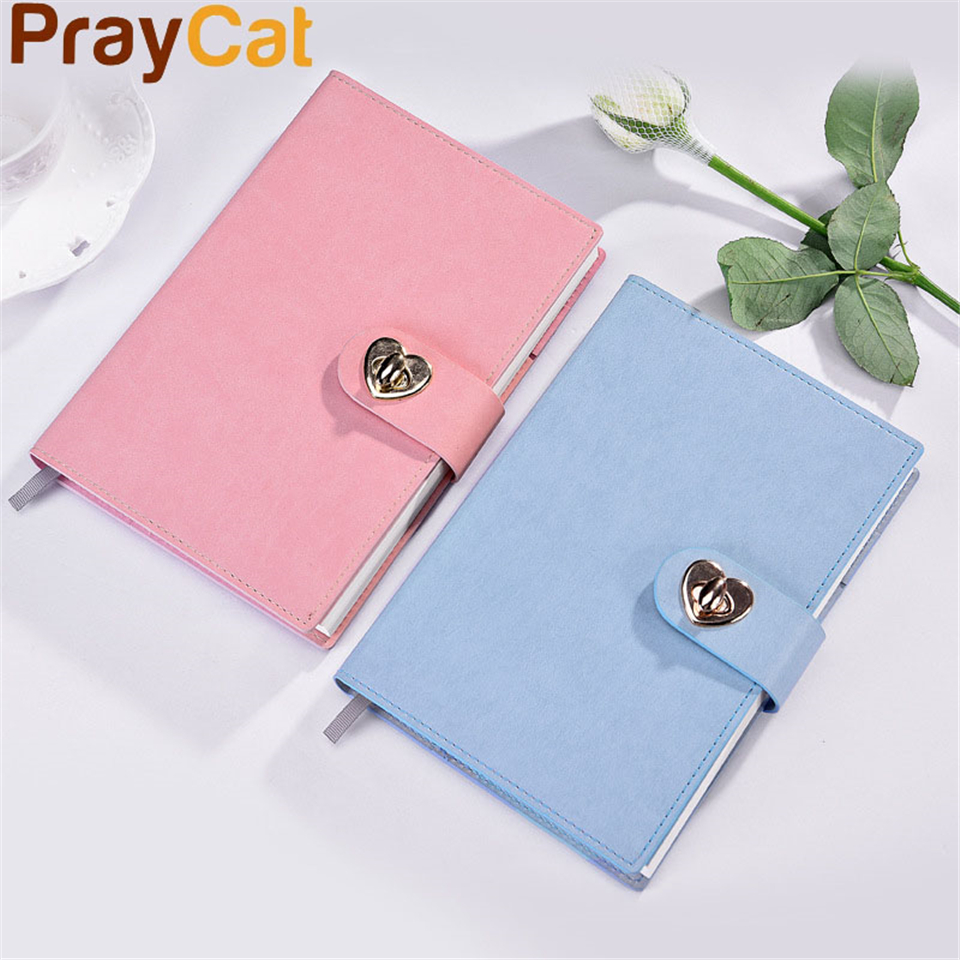 A5 Kawaii Notebook Dokibook Cute Simple Korean Leather Diary Agenda Organizer Planner Notepad Notebooks School Supplies color page diary notebook a5 simple top quality thicken notebooks school supplies stationery fine travel plan notepad gift