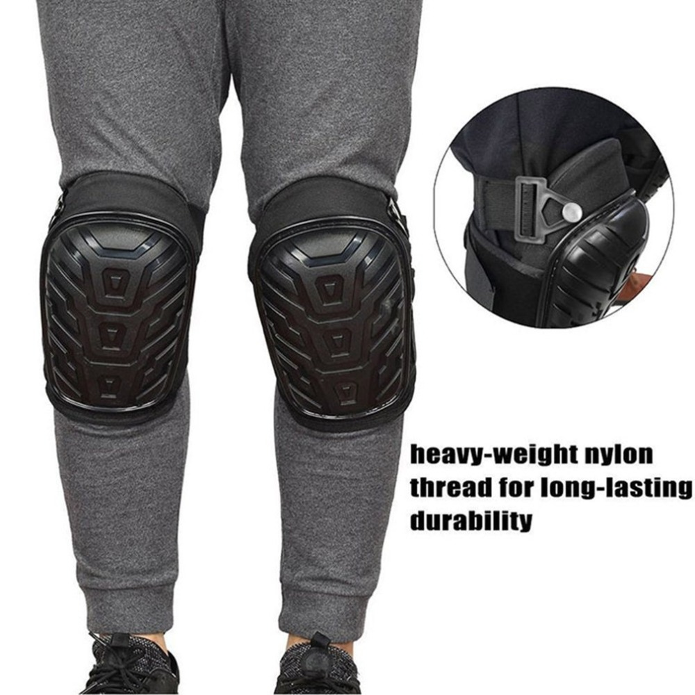 1 Pair Knee Pads With Adjustable Straps Heavy Duty Foam Padding Kneepads For Work Construction Safe EVA Gel Cushion PVC Shell