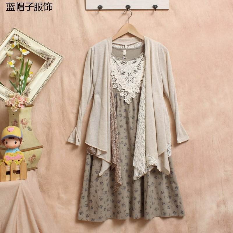 Vintage Embroidery Blouse Kimono Cardigan Floral Tunic