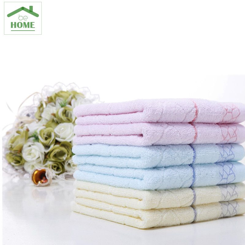 Disposable Hand Towels For Bathroom #34: 3 PCS Cream Color, Blue,Pink 100% Cotton Towel Behome Hand Towel Stripe Face Towels Bathroom Towels Sets 30cm*75cm