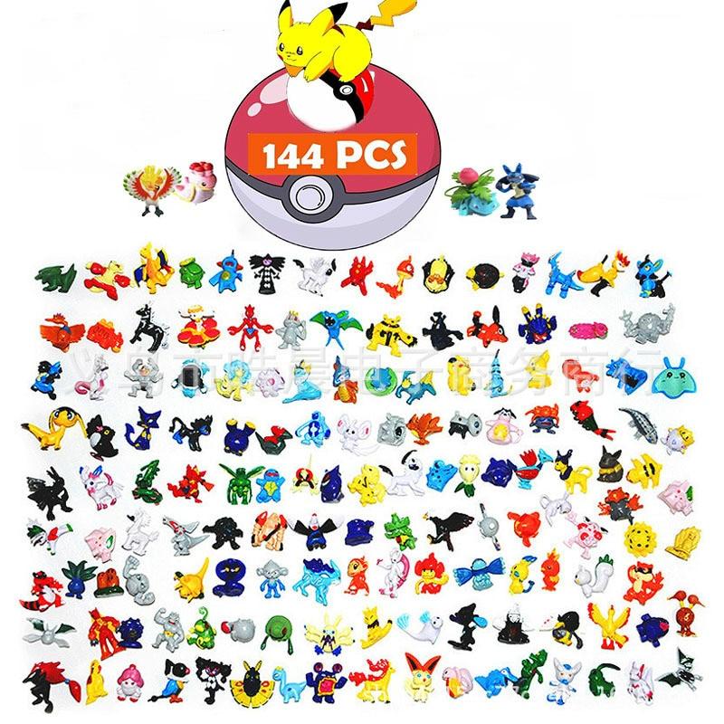2,5 см-3 см Takara Tomy Покемон Пикачу 192 разных стилей 24 шт./упак. Новая коллекция кукол, Двигающаяся игрушка ПКС Коллекционная модель