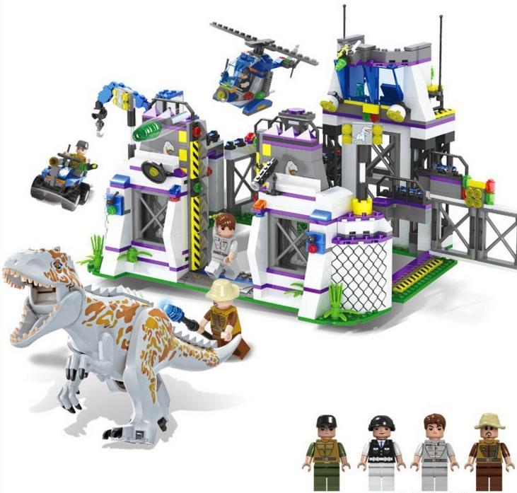 TS8000 Jurassic Dinosaurs Base Tyrannosaurus Escape Building Blocks Toys kids DIY Bricks Gift for Children Compatible With lepin big bricks building blocks base plate 51 25 5cm 32 16 dots baseplate diy bricks toy compatible with major brand blocks