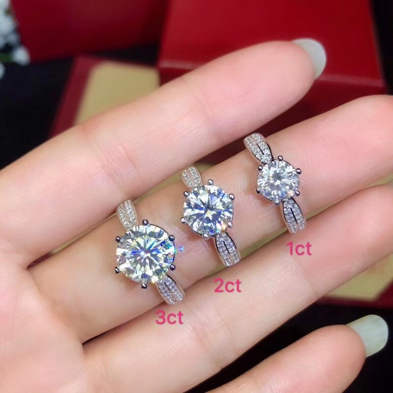 moissanite, Classic style, super hot gems, comparable to diamonds, 1 carat, 2 carats 3ctmoissanite, Classic style, super hot gems, comparable to diamonds, 1 carat, 2 carats 3ct