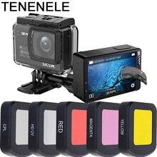 פעולה מצלמה מסנן על עמיד למים מקרה דיור עבור Sjcam SJ8 פרו/בתוספת/אוויר UV לקטב אדום צהוב מצלמה אביזרי מסנני