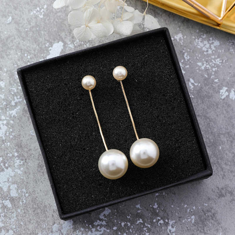 New Arrival Fashion Pearl Simulated-pearl Classic Water Drop Women Dangle Earrings Long Pendant Earrings