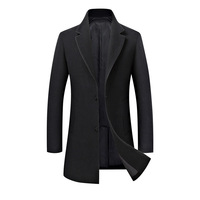 2018 New Long Single Breasted Men Wool Coat Excellent Quality Slim Fit Cloths For Men