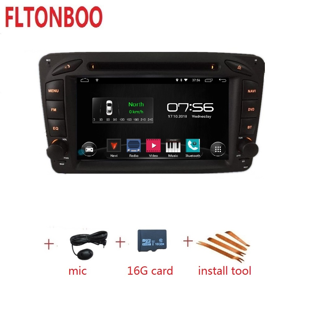 7 inch android 9 car DVD gps navigation for Mercedes Benz W209 W203 W168 W463 Viano