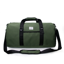 Купить с кэшбэком Nylon Travel Bag Large Capacity Men Hand Luggage Travel Bags Nylon Weekend Bag Women Multifunctional Black Travel Duffle Bag