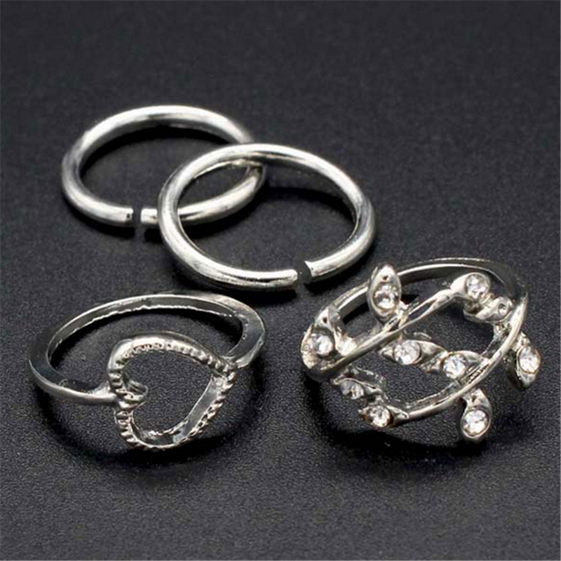 new silver jewelry wedding rings small circle of love ring cute party classic gold silver rings for women wholesale r849 r848 - Small Wedding Rings