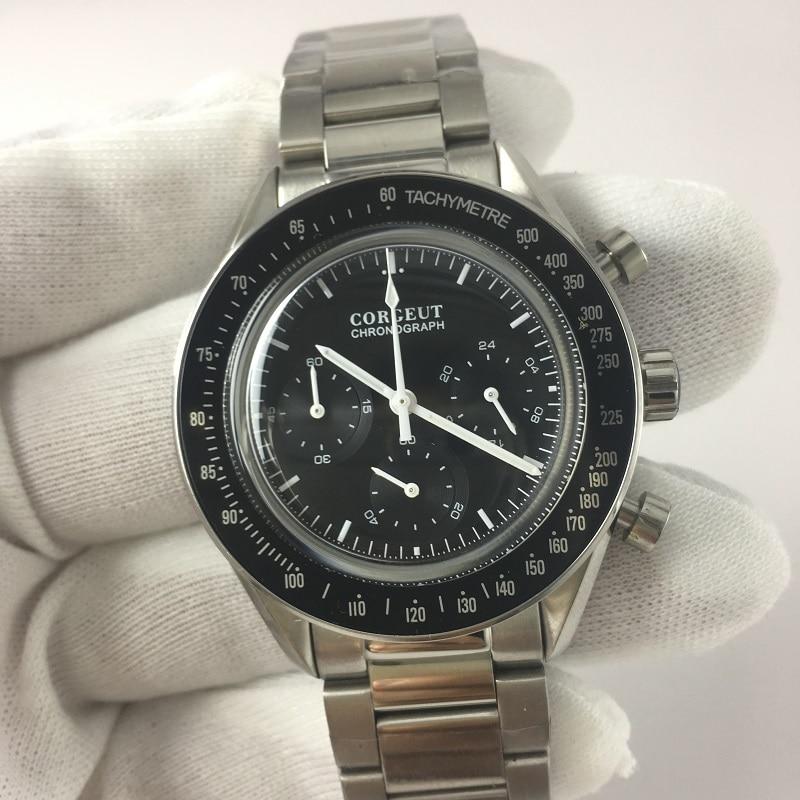Corgeut hommes montre Sport 24 heures multifonction montres plein acier chronographe Quartz horloge hommes Relogio Masculino 03