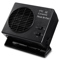 12V Car Portable 2 in 1 Electric Fan and Heater 150W / 300W Defroster Demister