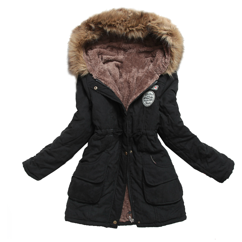 Winter Jacket Women Thick Warm Hooded   Parka   Mujer Cotton Padded Coat Long Paragraph Plus Size 3xl Slim Jacket Female