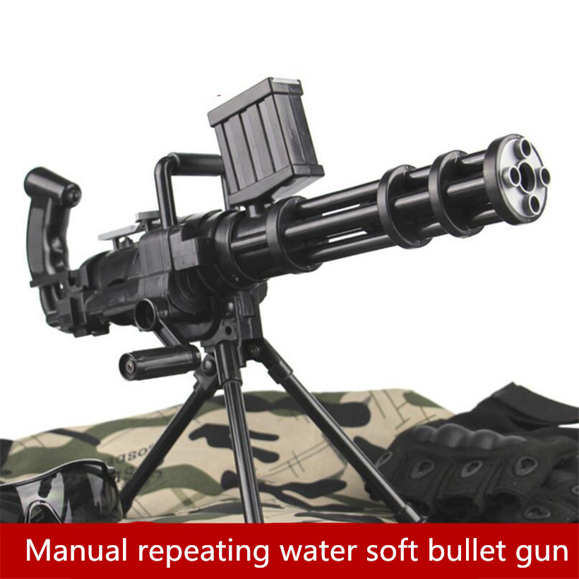 Manual firing repeating crystal bullet sniper gun with outdoor cs can launch crystal paintball orbeez soft bullet Machine gun