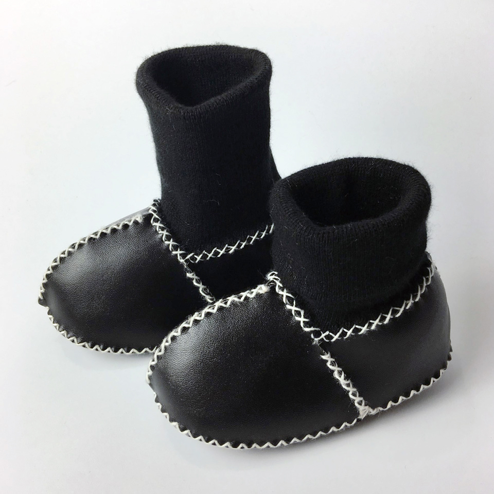 Winter Warm Shoes PU Suede Leather Newborn First Walkers Bebe Fringe Soft Soled Non-slip Footwear Crib Shoes for Baby Boy Girl