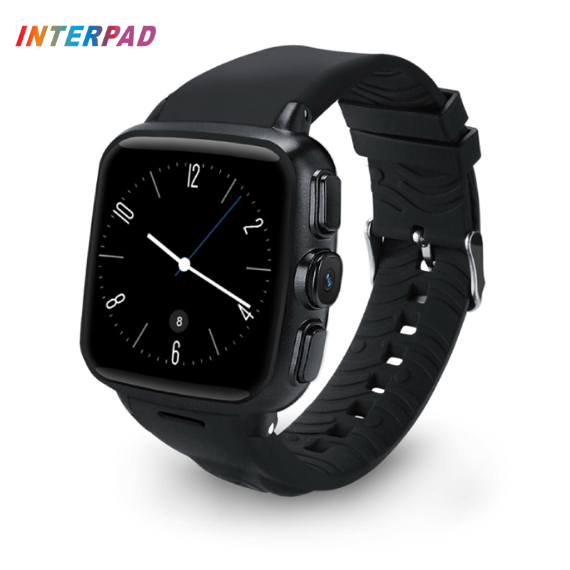 Interpad Android 5.1 Smart Watch 512M/4G WiFi GPS SIM Camera Smartwatch Support MP3 Music Player Clock For Android IOS Phone interpad gps tracking smart watch elderly anti lost wrist watch cellphone support sim card pedometer smartwatch for android ios